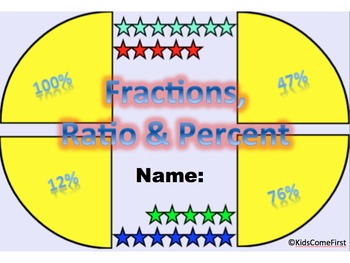 Fractions, Ratio and Percent Digital Interactive Math Notebook