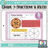 Fractions & Ratios Grade 3 2020 Ontario Math- DIGITAL Google Slides activities