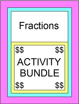 Fractions - Activity BUNDLE (5 Color Activities, 6 PP, 4 Scav. Hunts 2 MAZES)