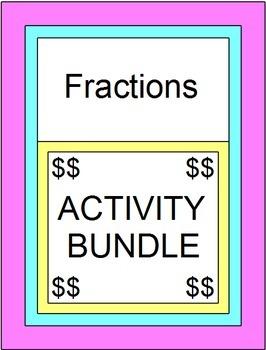 Fractions - Activity BUNDLE (5 Color Activities, 6 PP, 4 S