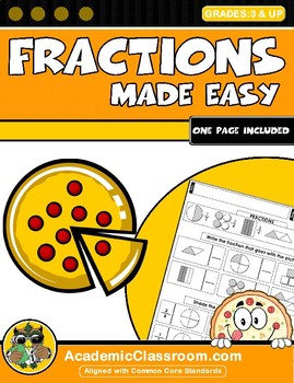 Fractions Reinforcement Worksheets Mini-Book 1