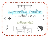Fractions- Representing Fractions in Multiple Ways (differentiated)