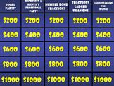3rd Grade Math Fractions Jeopardy ~ Promethean/ClassFlow ~ Engage NY Module 5