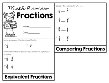 Fractions Review (4th Grade)