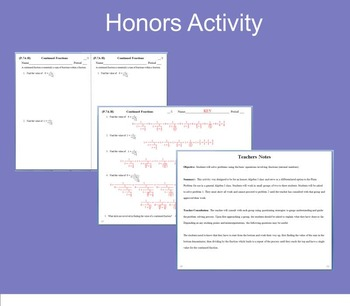 Fractions Review Activity