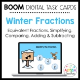 Fractions Review Boom Cards | Winter Theme