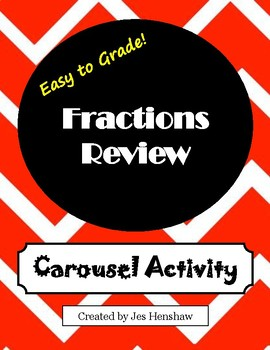 Fractions Review CAROUSEL ACTIVITY (Identifying, Comparing, Ordering)