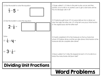 Fractions Review {Flip Book}