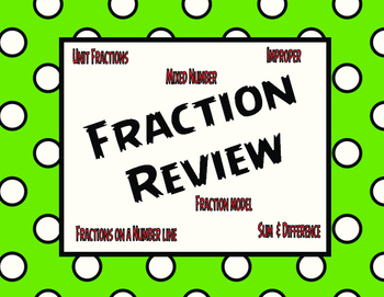 Fractions Review- Great for Staar Review!