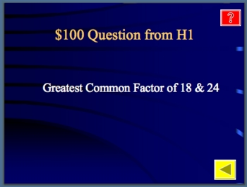 Fractions Review Jeopardy