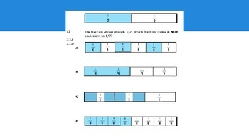 Fractions Review Practice Questions (Texas TEKS)