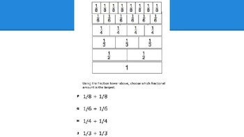 Fractions Review Practice Questions (Texas TEKS)