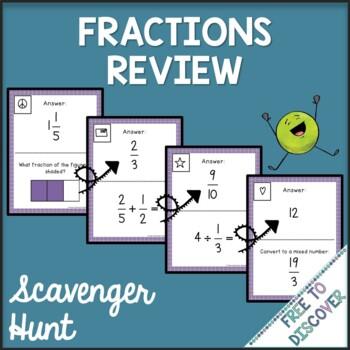 Fractions Review Scavenger Hunt