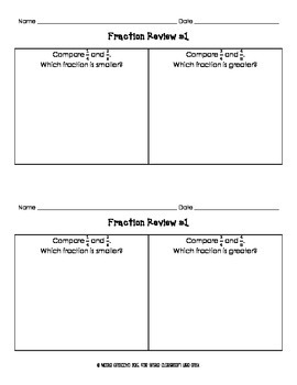 Fractions Review Set