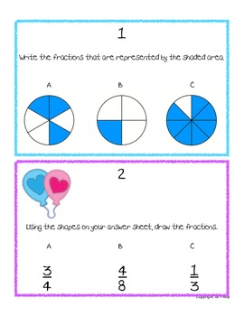 Fractions Review: Task Cards