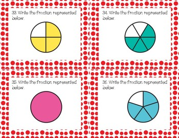 Fractions Review Task Cards Freebie {Part 2 of 3}
