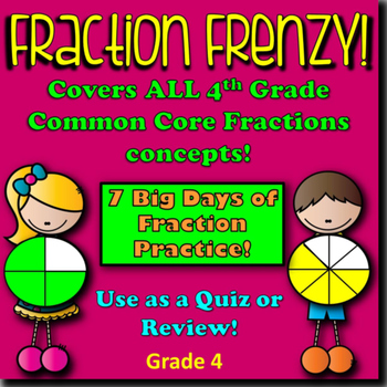 Math Fractions Review or Quiz - Upper Grade Problem Solving