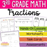 3rd Grade Fractions Unit - Conceptual Lessons and Practice - Print and Digital