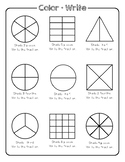 Fractions: Roll, Color, and Write
