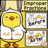 "Easter Math ""Mixed Numbers and Improper Fractions"""