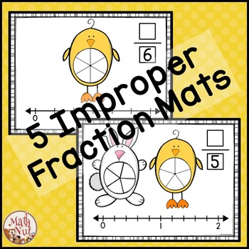 """Easter Math """"Mixed Numbers and Improper Fractions"""""""