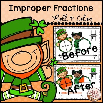 "St. Patrick's Day Math ""Mixed Numbers and Improper Fractions"""