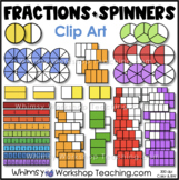 Fractions - Round, Rectangle and Fractions Strips Clip Art - Whimsy Workshop