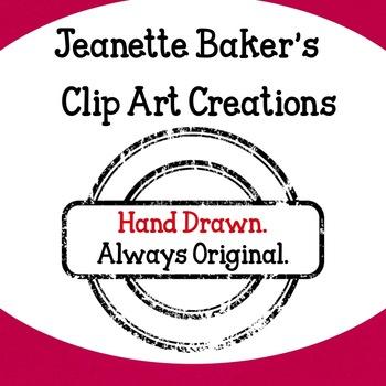Fractions Santa Clip Art by Jeanette Baker
