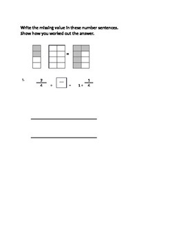 Fractions Scaffolded worksheet on how to add fractions