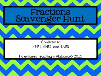 Fractions Scavenger Hunt
