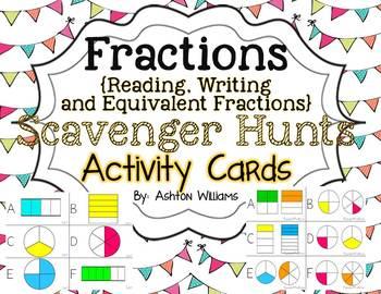 Fractions Scavenger Hunt Activity