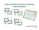 Fractions Scavenger Hunt - Add and Subtract Fractions with