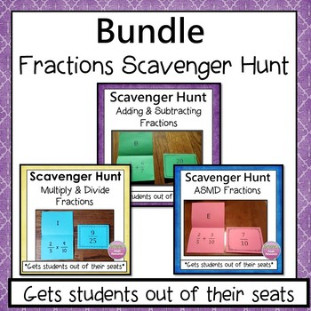 Fractions Scavenger Hunt Bundle