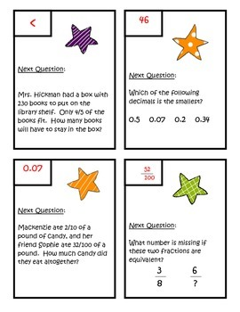 Fractions Scavenger Hunt - Fourth Grade Common Core Math