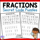 Fractions Secret Code Worksheets