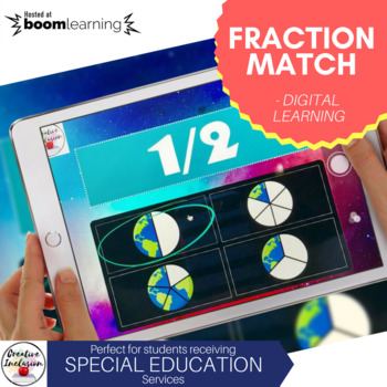 Fractions - Self Checking Digital Learning Activity for Special Education