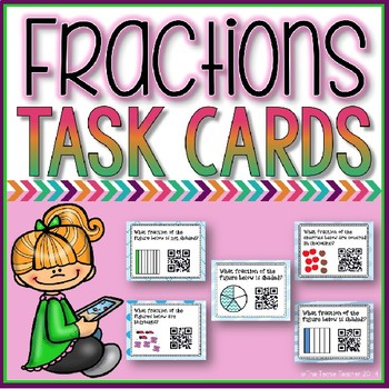 Fractions Self-Checking QR Code Task Cards