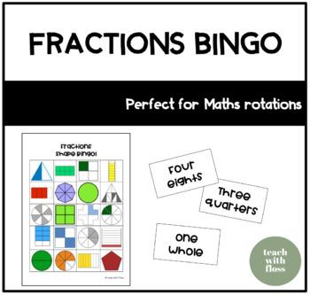 Fractions Shape Bingo
