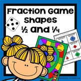 Fractions Shapes Halves and Fourths Game