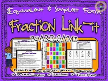 Fractions: Simplest Form Link-it Board Game