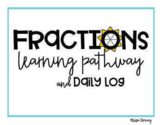 Fractions Skills Pathway (Choose Your Own Adventure Slideshow and Log)