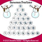 Snowman Fractions Clip Art by Jeanette Baker