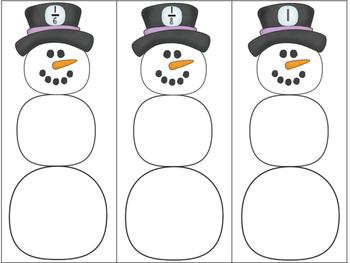 Fractions - Snowman Math Center