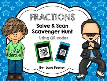 Fractions Solve & Scan Freebie