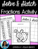 Operations with Fractions Easter Solve and Sketch Activity