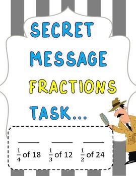 Fractions *Solve the Secret Message*