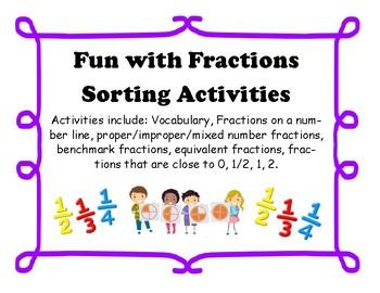 Fractions Sorting Hands-On Activities