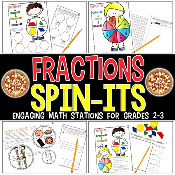 Fractions Spin-Its Math Stations