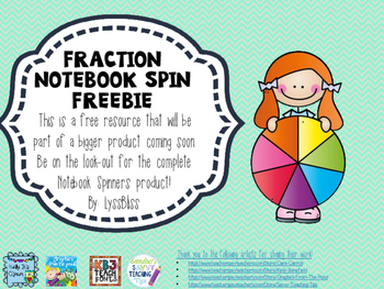 Fractions Spinner Freebie