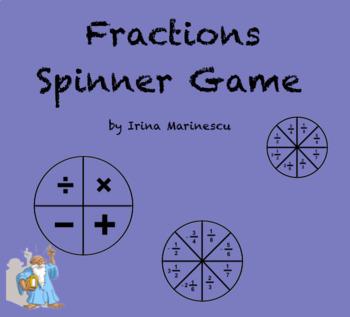 Fractions - Spinner Game